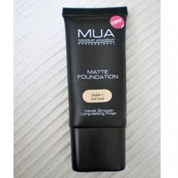 Produktbild zu MUA Makeup Academy Matte Foundation – Nuance: 1 Soft Sand