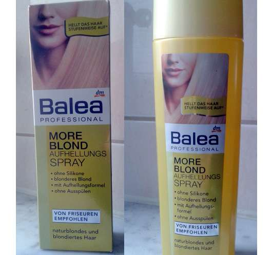 test coloration balea professional more blond aufhellungsspray