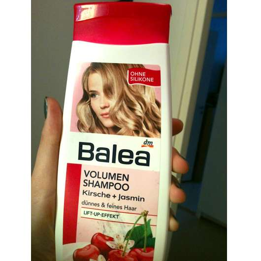 test shampoo balea volumen shampoo kirsche jasmin testbericht von meerschweinchen. Black Bedroom Furniture Sets. Home Design Ideas