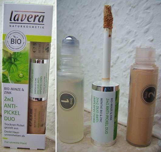 test anti pickel produkte lavera 2in1 anti pickel duo bio minze zink testbericht von. Black Bedroom Furniture Sets. Home Design Ideas