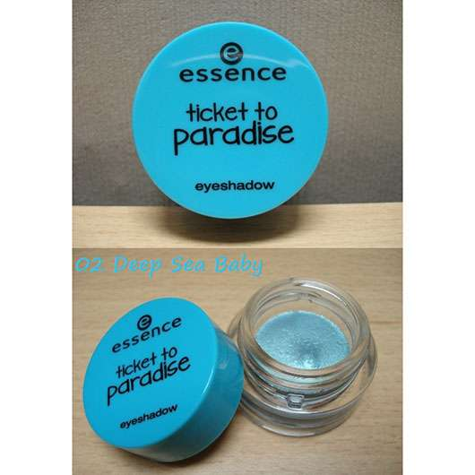 essence ticket to paradise eyeshadow, Farbe: 02 deap sea baby (LE)