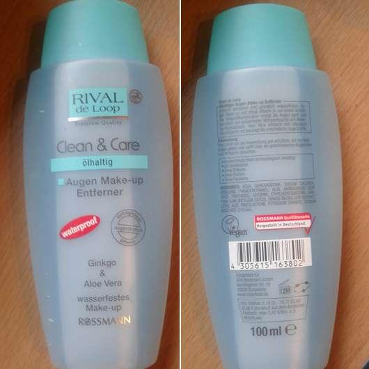 Rival de Loop Clean & Care Augen Make-up Entferner Waterproof (ölhaltig)