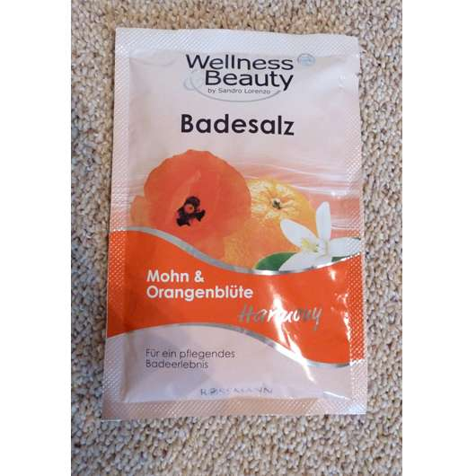 Wellness & Beauty Badesalz Mohn & Orangeblüte