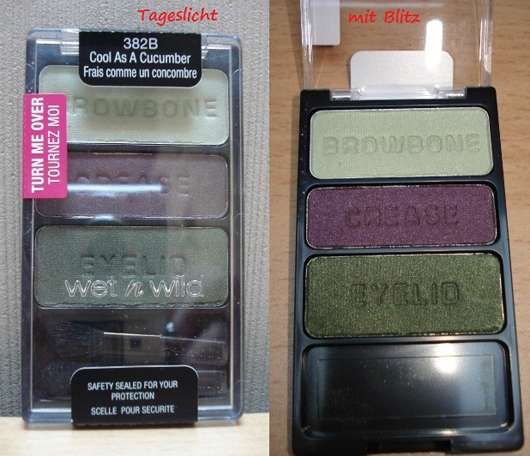 wet n wild coloricon eye shadow trio, Farbe: 382B cool as a cucumber