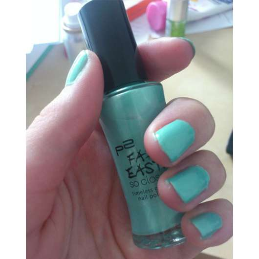 p2 far east so close timeless grace nail polish, Farbe: 030 bluish green (LE)