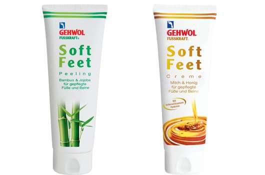 GEHWOL FUSSKRAFT Soft Feet Peeling und Creme
