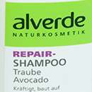 alverde Repair-Shampoo Traube Avocado