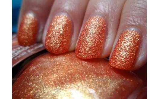 Misslyn velvet diamond nail polish, Farbe: 59 sparkling orange (LE)