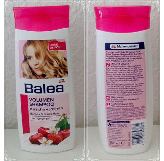 test shampoo balea volumen shampoo kirsche jasmin testbericht von ss super sina. Black Bedroom Furniture Sets. Home Design Ideas