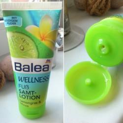 Produktbild zu Balea Wellness Fuß Samtlotion Lemongras & Minze