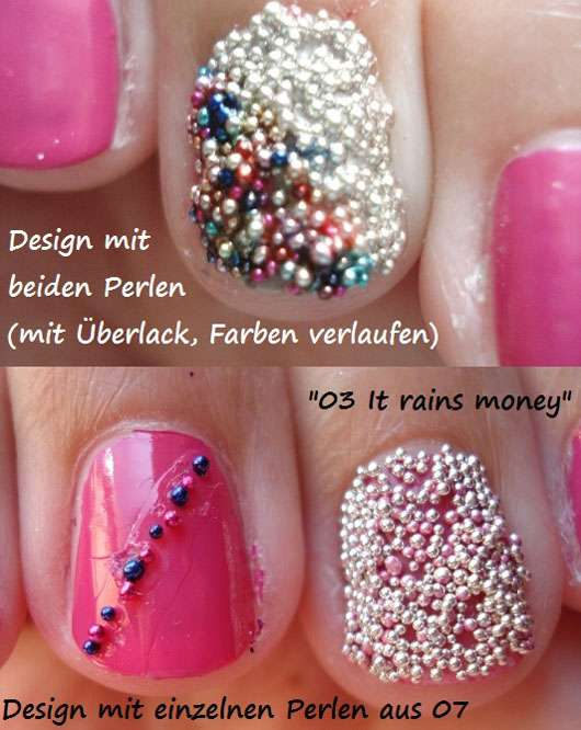 Essence effect nails 3d pearls farbe 03 it rains money 07 candy