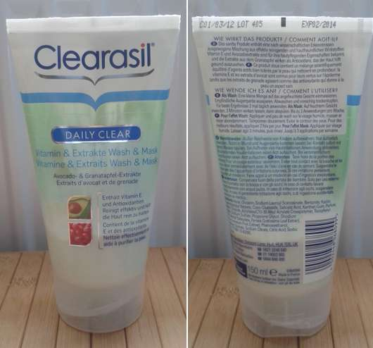 Clearasil Daily Clear Vitamin & Extrakte Wash & Mask