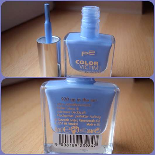 p2 color victim nail polish, Farbe: 920 up in the air!