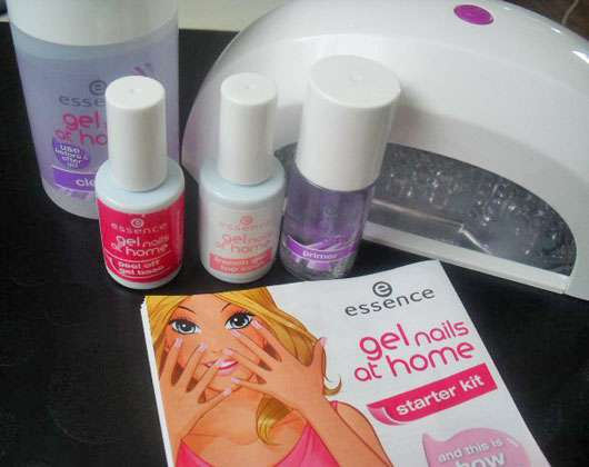 essence gel nails at home starter kit + LED lamp (french look)