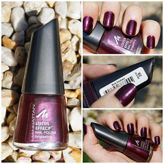 Manhattan Lotus Effect Nail Polish, Farbe: Birdy Bordeaux [LE]