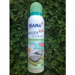 Produktbild zu ISANA Rasierschaum Lotus & Bambusmilch (LE)