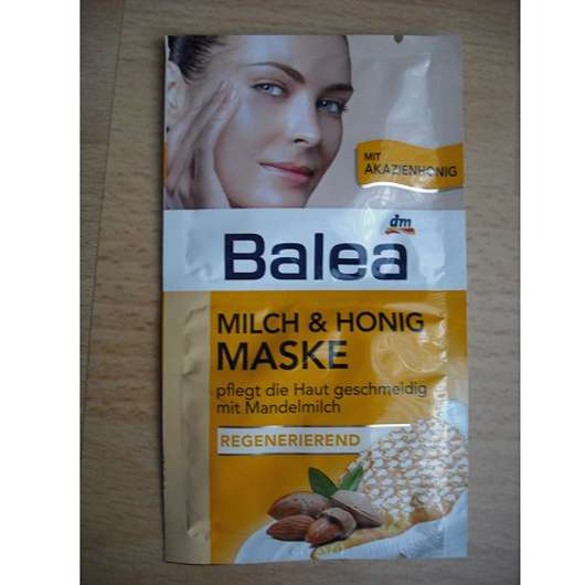 test maske balea milch honig maske regenerierend mit mandelmilch testbericht von bini. Black Bedroom Furniture Sets. Home Design Ideas