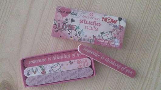 "essence studio nails pocket files ""love edition"""