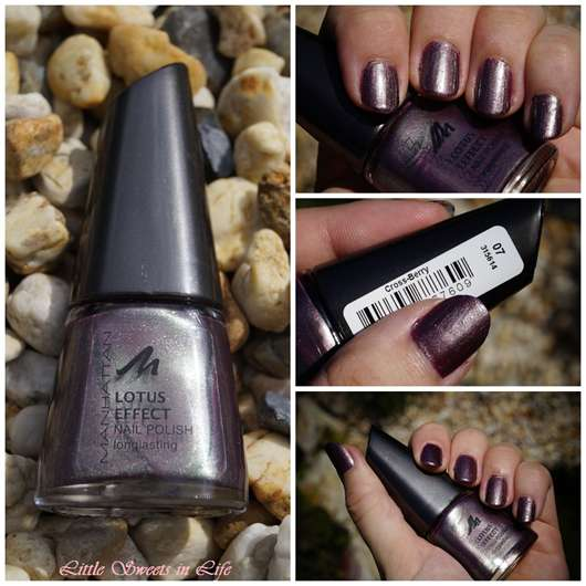 Manhattan Lotus Effect Nail Polish, Farbe: 07 Cross-Berry (LE)