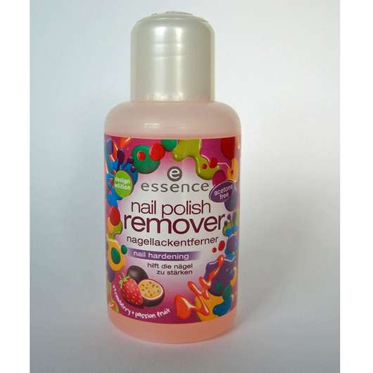 essence nail polish remover nail hardening (strawberry + passionfruit)