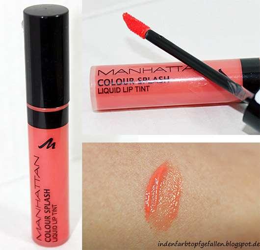 Manhattan Colour Splash Liquid Lip Tint, Farbe: 93C My Mandarine