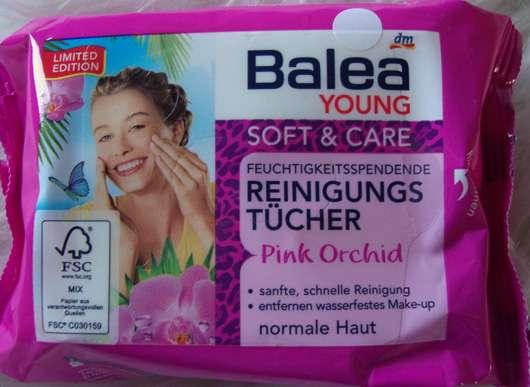 Balea Young Soft & Care Feuchtigkeitsspendene Reinigungstücher Pink Orchid (LE)