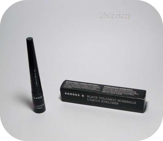 Korres Black Volcanic Minerals Liquid Eyeliner, Farbe: 01 black