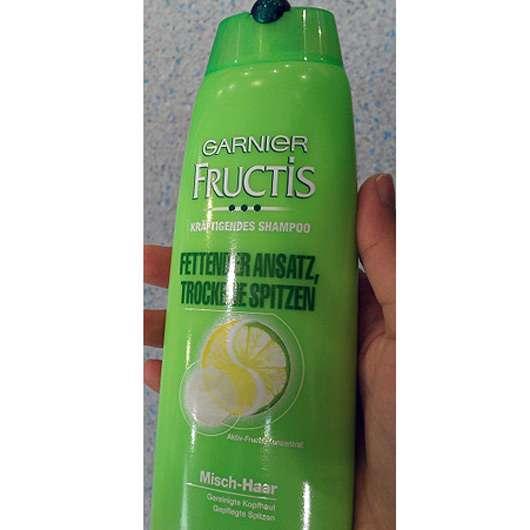 Test Shampoo Garnier Fructis Kräftigendes Shampoo Fettender