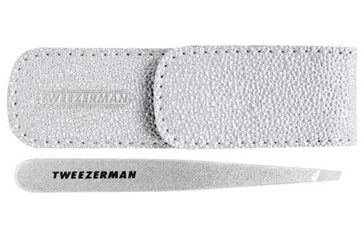 Tweezerman Silver Shimmer Slant Tweezer