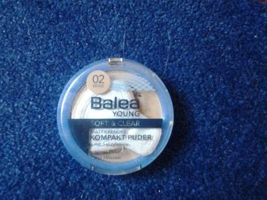 Balea Young Soft & Clear Mattierendes Kompakt Puder, Farbe: 02 Beige