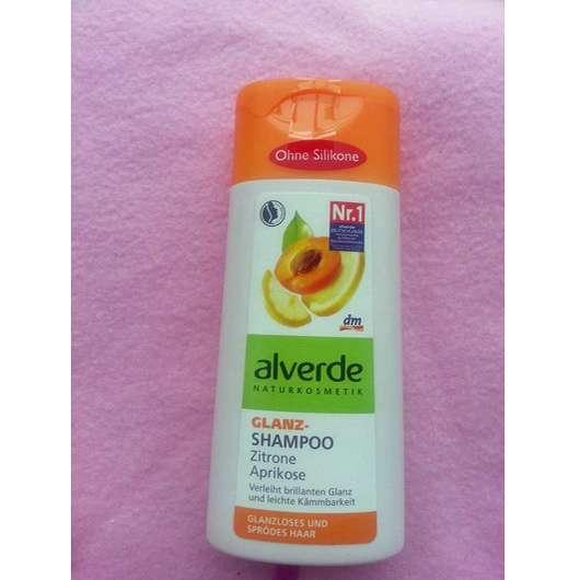 alverde Glanz-Shampoo Zitrone & Aprikose