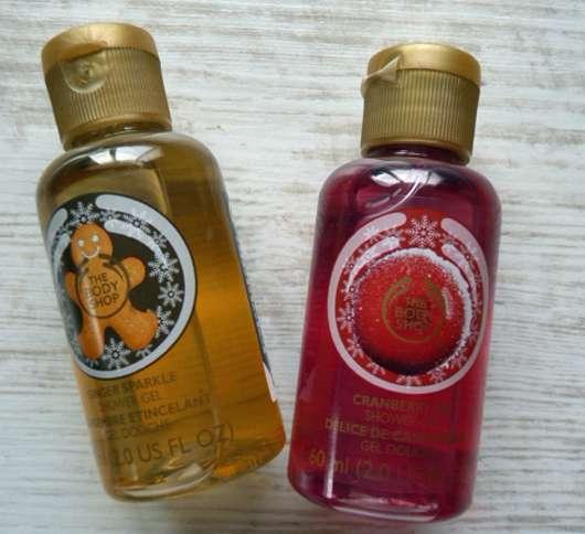 The Body Shop Ginger Sparkle & Cranberry Joy Shower Gels (LE)