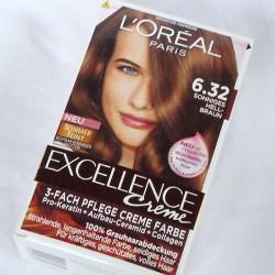 Produktbild zu L'ORÉAL PARiS Excellence Crème 3-fach Pflege-Coloration – Farbe: 6.32 Sonniges Hellbraun