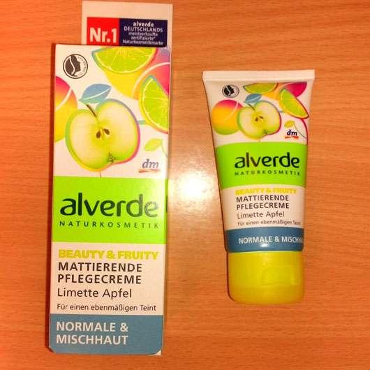 alverde Beauty & Fruity Mattierende Pflegecreme Limette Apfel