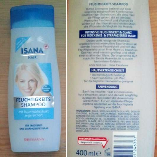 <strong>ISANA HAIR</strong> Feuchtigkeitsshampoo