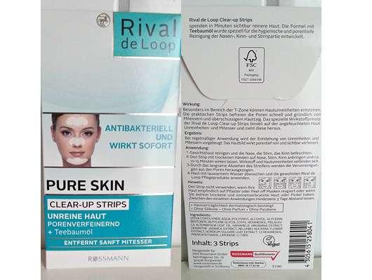 Rival de Loop Pure Skin Clear-up Strips mit Teebaumöl