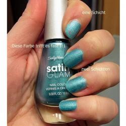 Produktbild zu Sally Hansen Satin Glam Nail Color – Farbe: 06 Teal Tulle (LE)