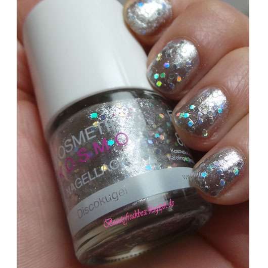 Kosmetik Kosmo Nagellack Glitter Flake, Farbe: Discokugel