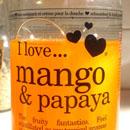 I love… mango & papaya bubble bath & shower crème