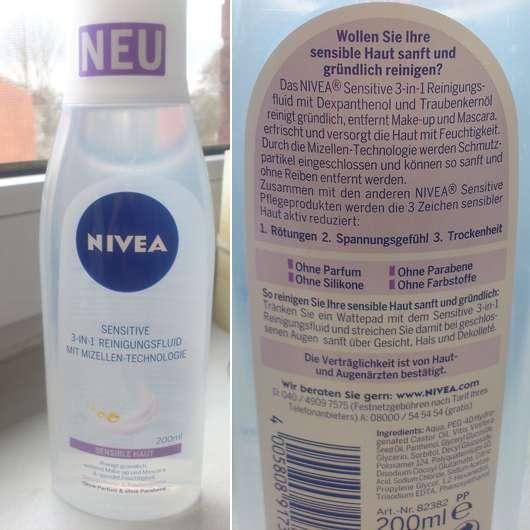 <strong>NIVEA SENSITIVE</strong> 3-In-1 Reinigungsfluid