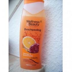 Produktbild zu Wellness & Beauty Duschpeeling Orange & Granatapfel