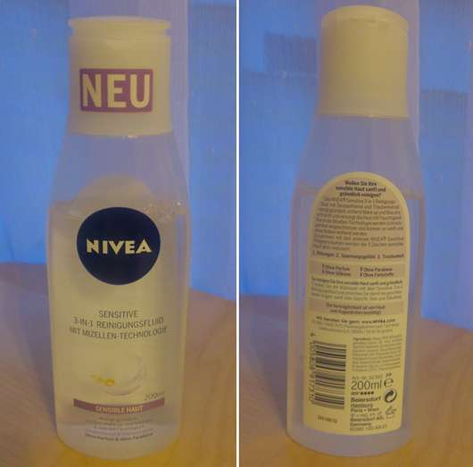 NIVEA SENSITIVE 3-In-1 Reinigungsfluid