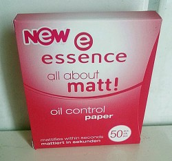 Produktbild zu essence all about matt! oil control paper