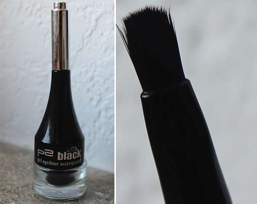 p2 100% black gel eyeliner waterproof, Farbe: 010 blackest black