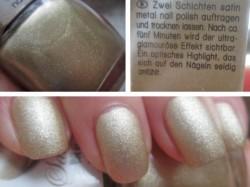 Produktbild zu Misslyn Satin Metal Nail Polish – Farbe: 10 Gold-Plate