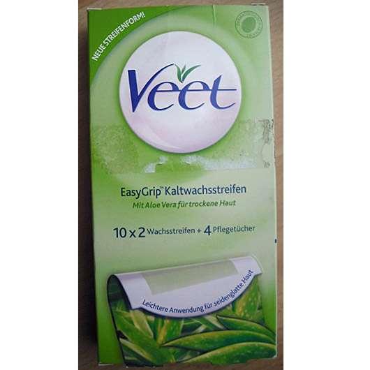 Veet EasyGrip Kaltwachsstreifen (mit Aloe Vera für trockene Haut)