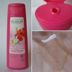 Produktbild zu ALIQUA NATURKOSMETIK PARFÜMERIE Pflegedusche Lotusblüte & Hibsikus
