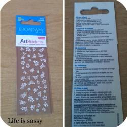 Produktbild zu Broadway Nails Art Stickers – Design: Petunia