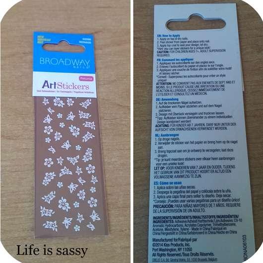 Broadway Nails Art Stickers, Design: Petunia