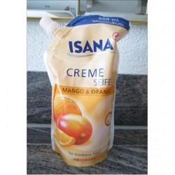 Produktbild zu ISANA Creme Seife Mango & Orange (Nachfüllbeutel)